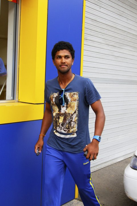 Sri Lanka's cricket vice captain Dinesh Chandimal arrives at Sri Lanka cricket board headquarters in Colombo