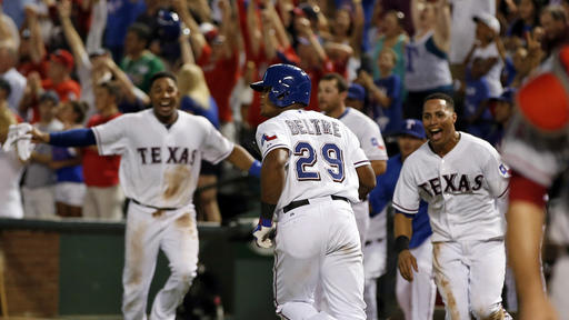 Texas sweeps Angels, 2-1 win on 3rd game-ending HR