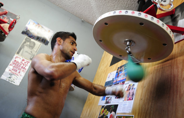 Amir Khan Media Workout