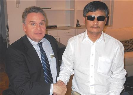 Blind Chinese Activist Chen Rests In NYC