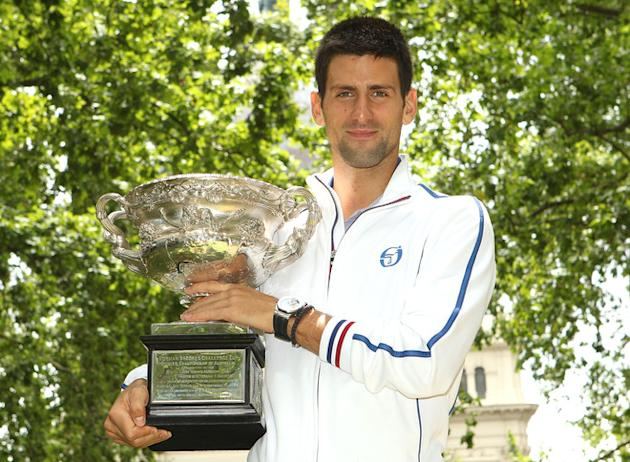 Novak Djokovic Of Serbia Poses Getty Images