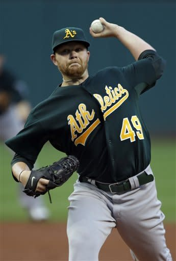 Athletics' Anderson beats Indians 3-0