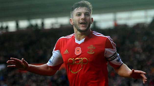 Southampton's Adam Lallana celebrates scoring against Hull (Getty)