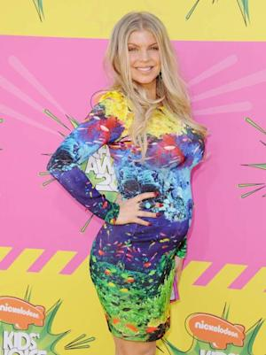 Fergie shows off her baby belly at Nickelodeon's 26th Annual Kids' Choice Awards at USC Galen Center in Los Angeles on March 23, 2013 -- Getty Premium