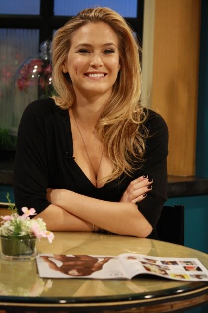 The beautiful Bar Refaeli is all smiles on the set of Access Hollywood Live on May 23, 2012 -- Access Hollywood