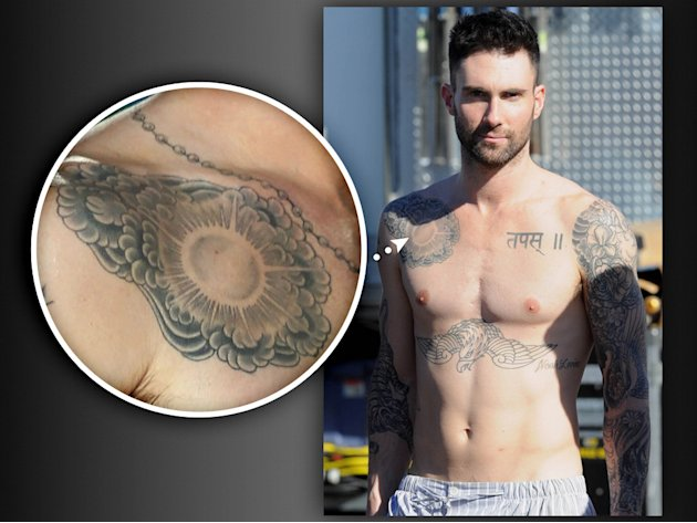 Adam Levine | 'The Voice': Tattoos the Judges Regret Getting - Yahoo