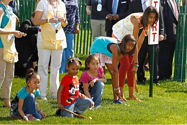 Sasha Malia Obama Easter Egg Roll