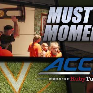 UVA Baseball's CWS Hotel Celebration With Fans | ACC Must See Moment