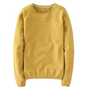 Cashmere Crew Neck Jumper Boden: Fashion Trend: Mustard