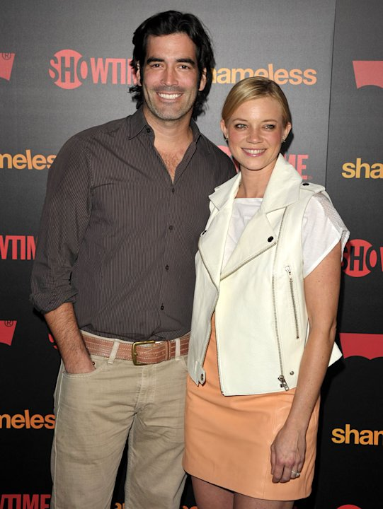 "Carter Oosterhouse and Amy Smart attend the ""Shameless"" Season 2 Reception at Haus Los Angeles on January 5, 2012 in Los Angeles, California."
