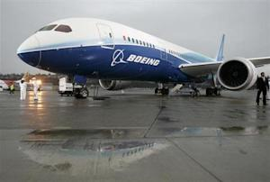 The Boeing 787 Dreamliner sits on the tarmac at Boeing Field in Seattle, Washington after its maiden flight, December 15, 2009. REUTERS/Robert Sorbo/Files