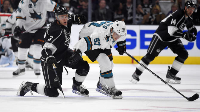 Sharks rout LA Kings 4-0, crashing Cup celebration