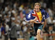 Australia's defending Olympic pole vault champion Steve Hooker, pictured in 2008, said Monday he felt no shame in discussing the problems that have sometimes even prevented him from taking off