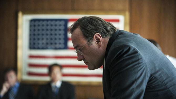 """This undated publicity photo released by Columbia Pictures Industries, Inc. shows James Gandolfini playing the C.I.A. Director in Columbia Pictures' new thriller, """"Zero Dark Thirty,"""" directed by Kathryn Bigelow. (AP Photo/Columbia Pictures Industries, Inc., Jonathan Olley)"""