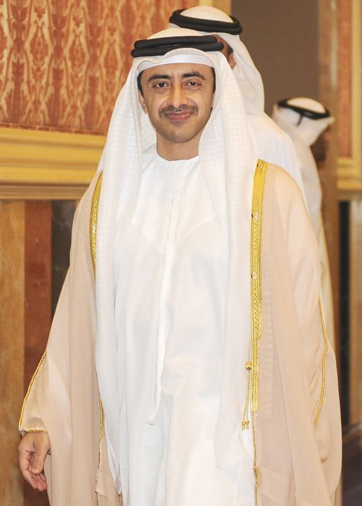 United Arab Emirates' Foreign Minister Sheikh Abdullah Bin Zayed al-Nahyan attends the opening of the Doha Forum