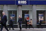 RBS, which is 81% owned by the government after a huge bailout amid the global financial crisis, was forced into the red after taking an eye-watering 1.455 bn charge on changes to the value of its deb