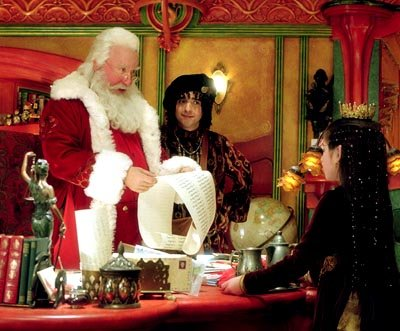 Tim Allen , David Krumholtz and Danielle Woodman in Disney's The Santa Clause 2