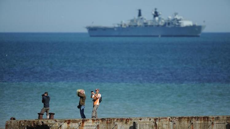 File photo taken on June 6, 2014 shows the English Channel in Arromanches-les-Bains, Normandy