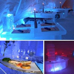 This restaurant is cool as ice--literally!