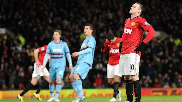 Wayne Rooney was unable to convert from 12 yards out for Manchester United