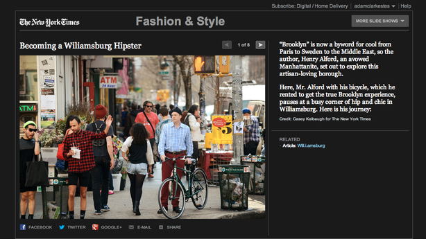 The New York Times Just Published a Slideshow on How to Be a Will.i.amsburg Hipster