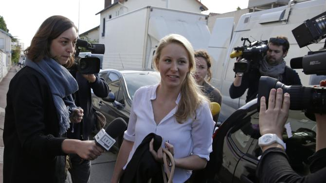 France's far-right National Front political party deputy Marion Marechal-Le Pen arrives to attend the party's executive office at their party's headquarters in Nanterre near Paris