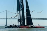 Oracle Team USA, pictured during race 16 of the America's Cup in San Francisco on September 23, 2013, beat Emirates Team New Zealand for the fifth America's Cup race in a row