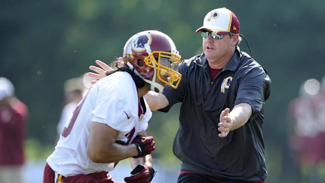 'Butterflies' for Jay Gruden at 1st Redskins camp