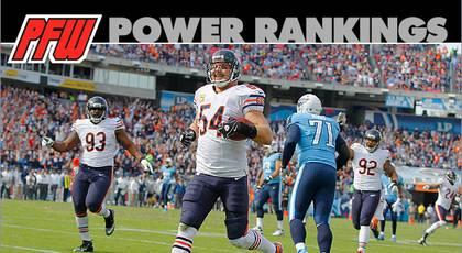 Power rankings: Bears' defense keeps rolling