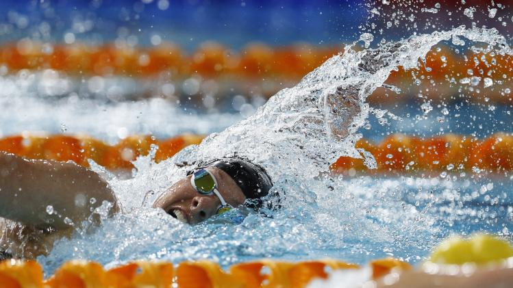 New Zealand's Lauren Boyle competes during the women's 400m freestyle during the 2014 Commonwealth Games in Glasgow, Scotland