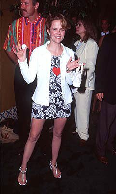 Premiere: Lea Thompson at the Westwood premiere of Tin Cup - 8/1/1996
