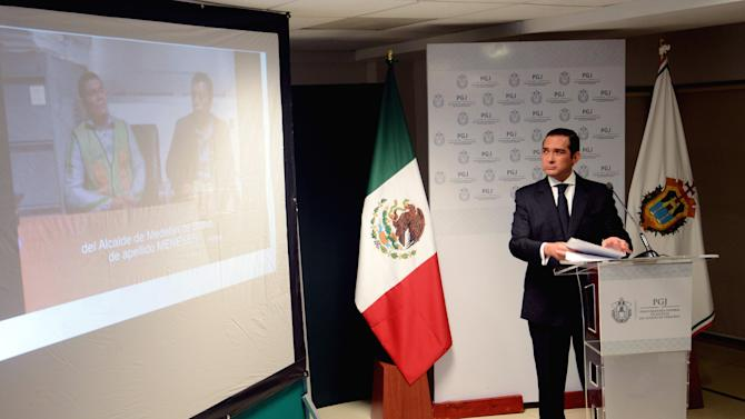 Prosecutor General of Justice for Veracruz, Luis Angel Bravo Contreras, speaks during a news conference about the case of journalist Moises Sanchez, in Veracruz