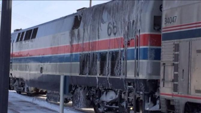 Amtrak trains headed to Chicago stranded in snow