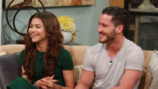 Zendaya and Val Chmerkovskiy on Access Hollywood Live on March 22, 2013 -- Access Hollywood