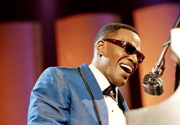 Jamie Foxx as Ray Charles in Universal's Ray