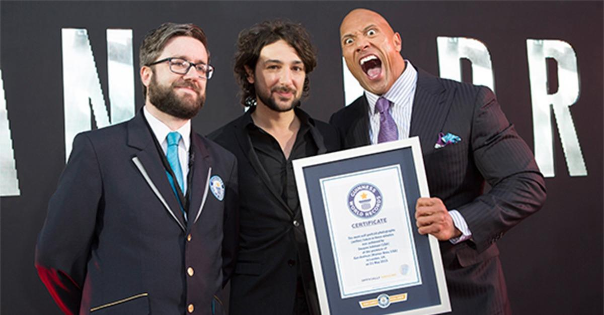 """The Rock"" Smashes World Record"