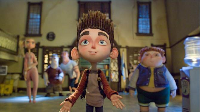 """This film image released by Focus Features shows the character Norman, voiced by Kodi Smit-McPhee, in the 3D stop-motion film, """"ParaNorman."""" (AP Photo/Focus Features)"""
