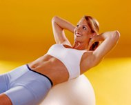 Use a stability ball to round out your ab-sculpting routine