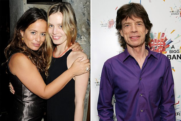 Jade Jagger, Georgia May Jagger and Mick Jagger