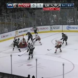 Jonas Hiller Save on Jeff Carter (16:30/1st)