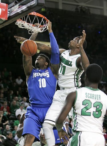 Thomas leads No. 22 Memphis over Marshall 71-59