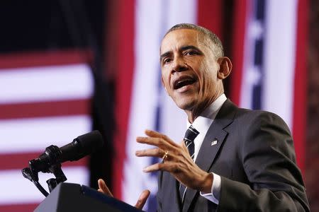 U.S. President Obama talks about immigration reform in Chicago