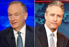 Bill O'Reilly, Jon Stewart | Photo Credits: Fox News, Martin Crook/Comedy Central