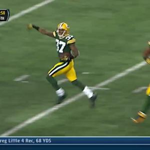 Dallas Cowboys quarterback Tony Romo's pass intercepted by Sam Shields