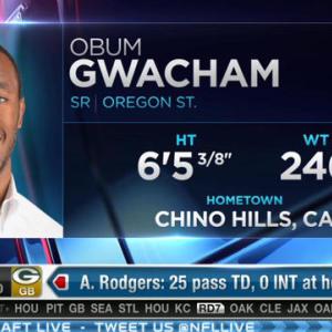 Seattle Seahawks pick defensive end Obum Gwacham No. 209 in 2015 NFL Draft