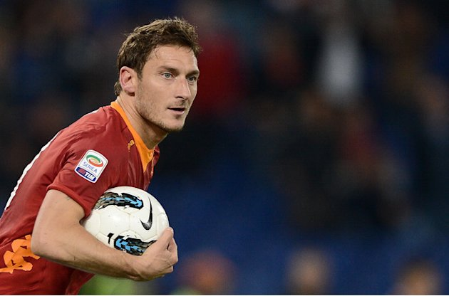 AS Roma's Forward Francesco Totti  Celebrates AFP/Getty Images
