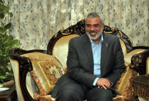 Palestinian Hamas prime minister Ismail Haniya in pictured in 2011. The Palestinian Islamist group Hamas ruling Gaza said on Saturday it would free more than 150 prisoners &quot;as a gift&quot; for the holy month of Ramadan