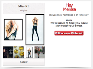 Socially Targeted Email Marketing: Karmaloop PinMail Case Study image kl email 1024x760