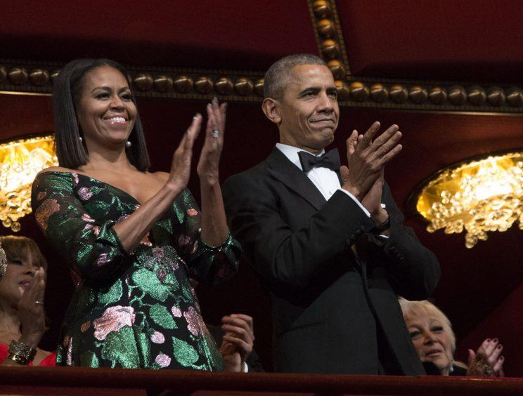 Michelle Obama glitters in Gucci for a final First Lady appearance