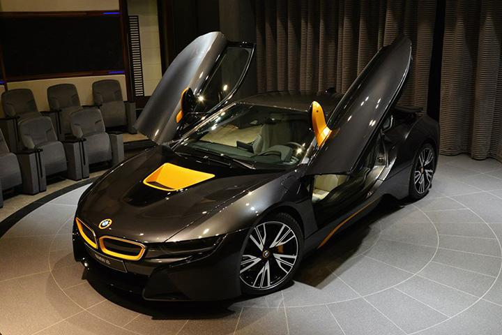 This BMW i8 is Gray and Yellow Because Abu Dhabi